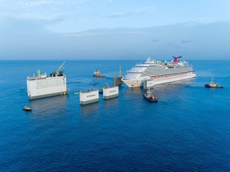 """Maniobra de aproximación del buque """"Carnival Vista"""""""