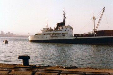"""Estado comprometido en el que quedó el buque """"Camino"""" tras la colisión con el petrolero """"Moncloa"""""""
