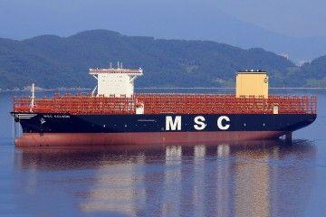 """Estampa marinera del buque """"MSC Gülsün"""""""