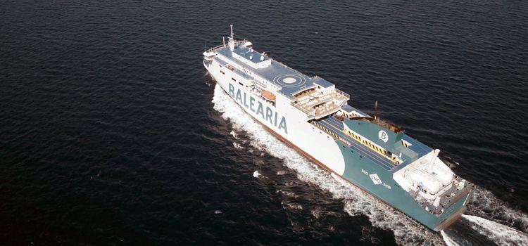"""El buque """"Marie Curie"""", en pruebas de mar"""