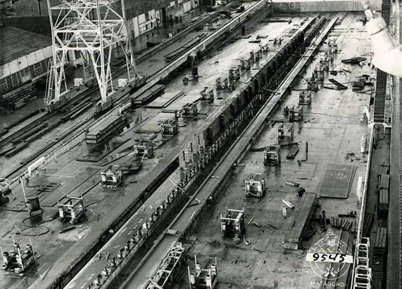 Puesta de quilla de la construcción número 96 del astillero de Matagorda