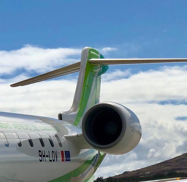 Los aviones CRJ-1000 de Binter serán sustituidos por los nuevos Embraer E-2