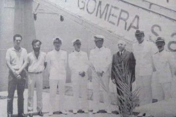 """La imagen corresponde al 8 de julio de 1984, a pie de escala del ferry """"Benchijigua"""""""