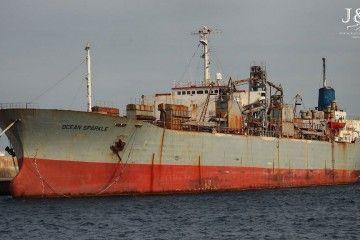 """El buque cementero """"Ocean Sparkle"""" se prepara para su último viaje"""