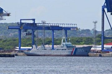 """Estampa marinera del patrullero oceánico cubano 085, ex """"Golfo de Tonkin"""""""