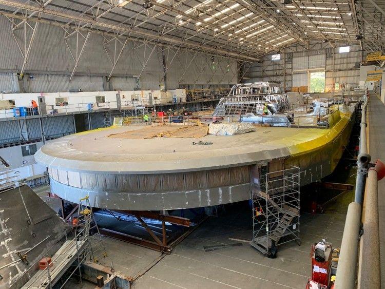 """Construcción de la superestructura de pasaje y puente de mando del buque """"Bajamar Express"""""""