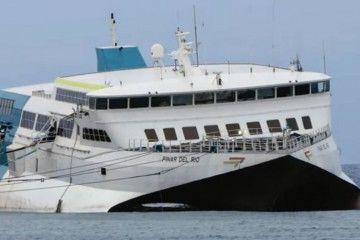 """El catamarán """"Pinar del Río"""" se encuentra varado desde el pasado  16 de agosto"""