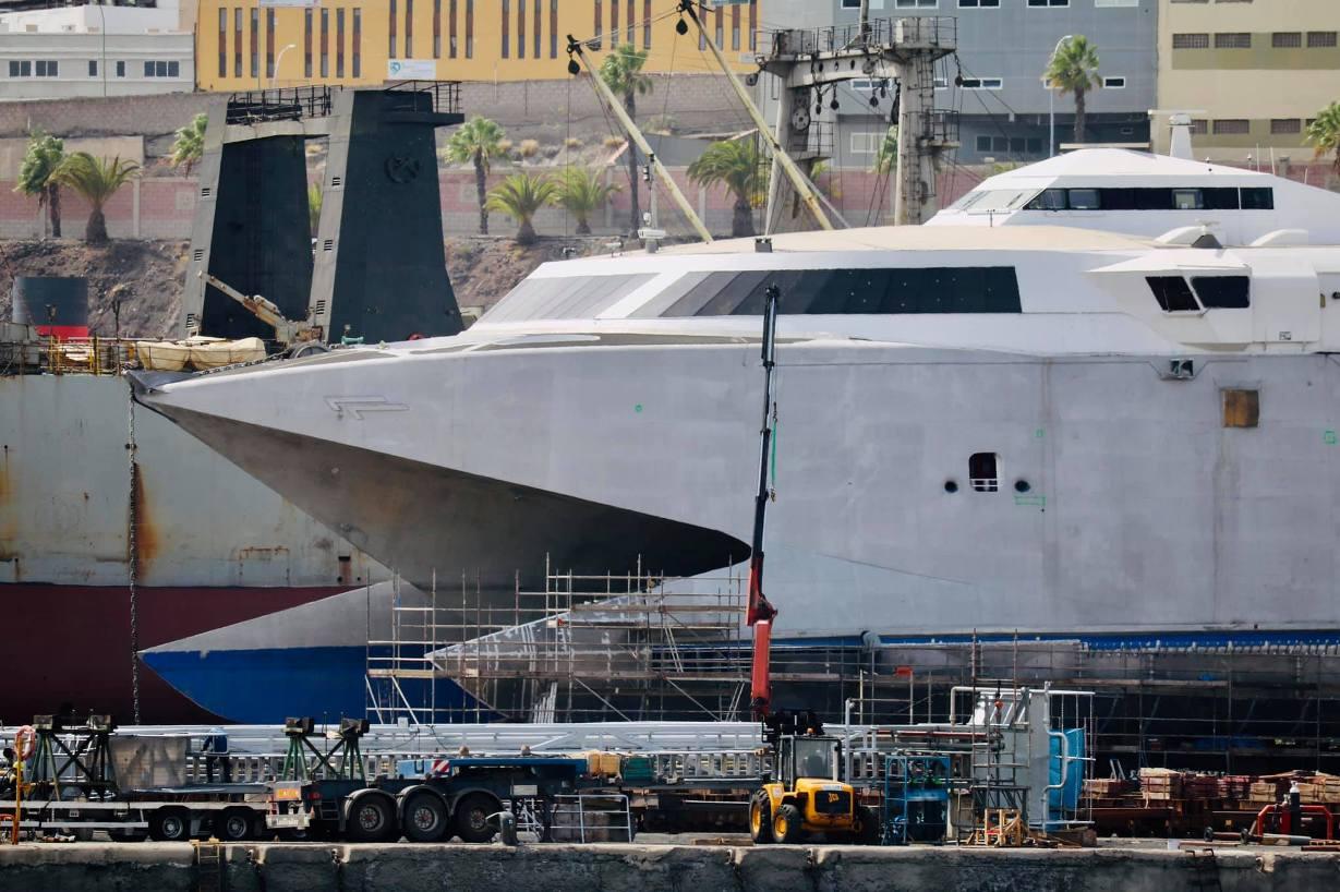 El buque está varado en ASTICAN desde finales de julio