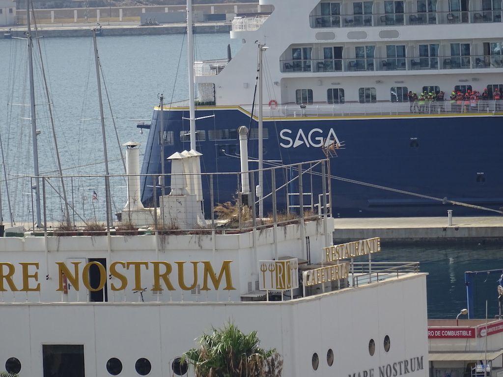 Saga Cruises ha estrenado su nuevo buque en el puerto de Cartagena