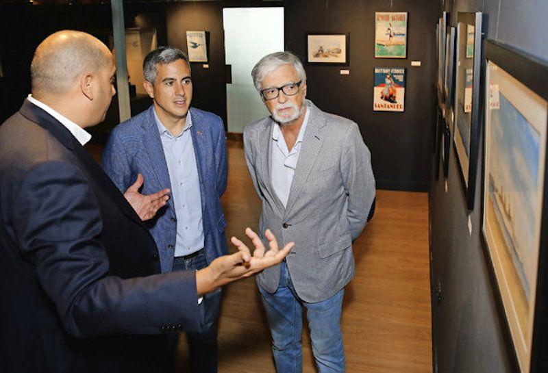 Roberto Hernández, Pablo Zuloaga ( (vicepresidente del Gobierno de Cantabria) y Gerardo García Castrillo (director del Museo Marítimo del Cantábrico)