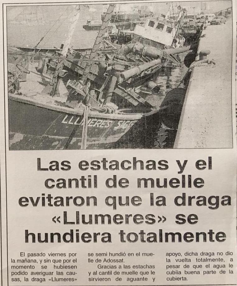 """Noticia publicada en el diario """"Marítimas"""" de Barcelona"""