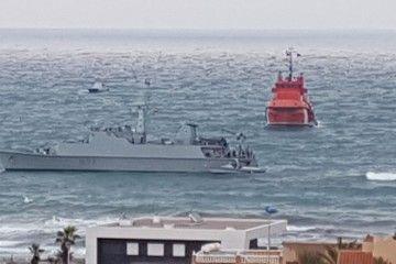 """Salvamento Marítimo colabora en las labores de reflotamiento del buque """"Turia"""""""