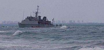 """Situación en la que se encuentra el buque carabinas """"Turia"""""""
