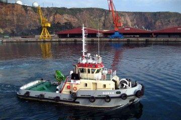 """El remolcador """"Dobra"""", propiedad de Remolques Gijoneses (REGISA)"""