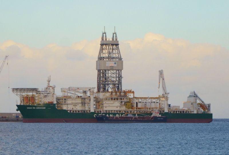La plataforma Deepwater Corcovado se encuentra en el puerto de Las Palmas de Gran Canaria