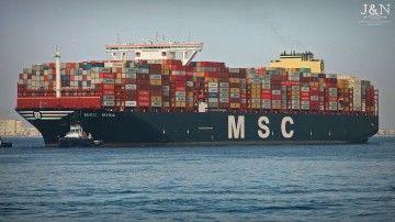"""El buque """"MSC Mina"""" realiza su primer viaje comercial"""