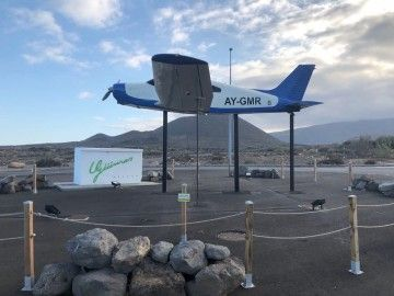El monumento evoca la memoria del aeródromo de El Socorro