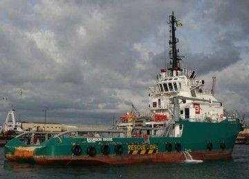 """El buque """"Bourbon Rhode"""", en una escala en Gibraltar"""