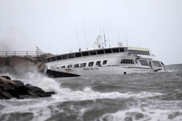 """Estado en el que se encuentra el catamarán """"Pinar del Río"""""""