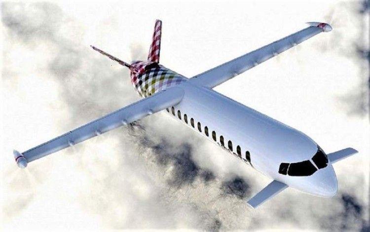 Visión artistica del prototipo del avión híbrido Dax-19