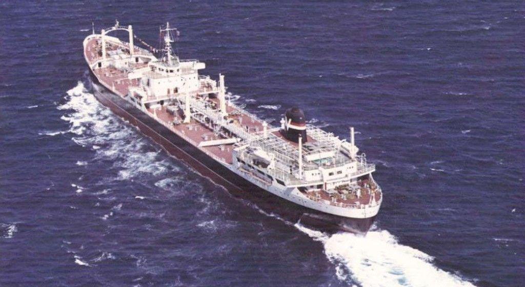 "Estampa marinera del petrolero ""Bilbao"""
