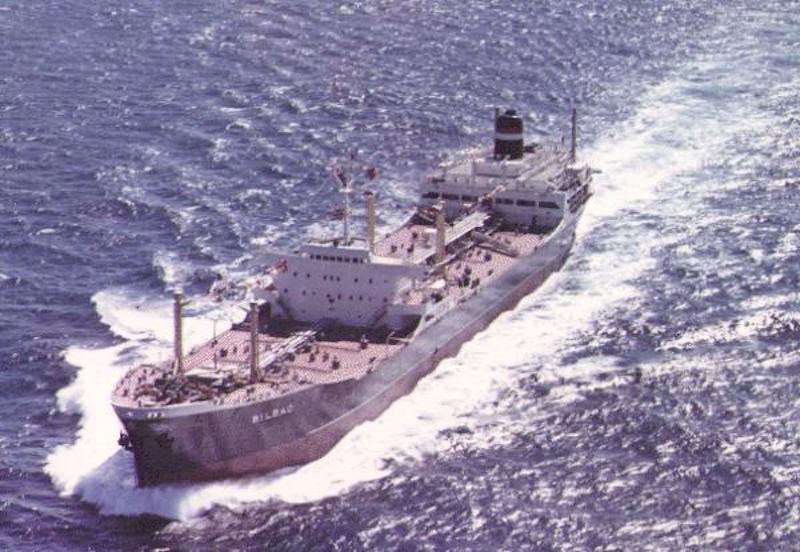 """El petrolero """"Bilbao"""", en sus pruebas de mar"""
