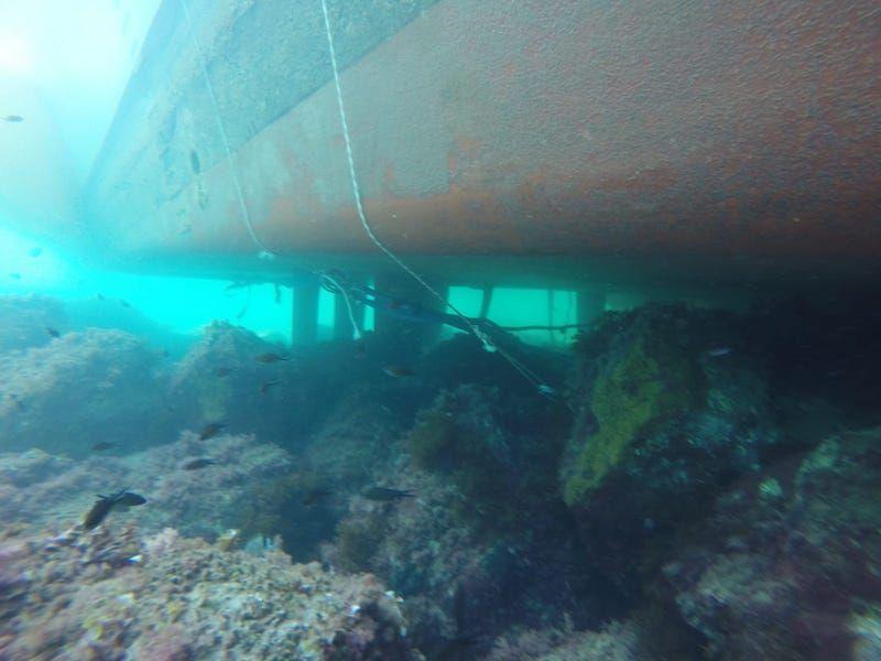 El buque cazaminas ha sido reflectad con las debidas garantías