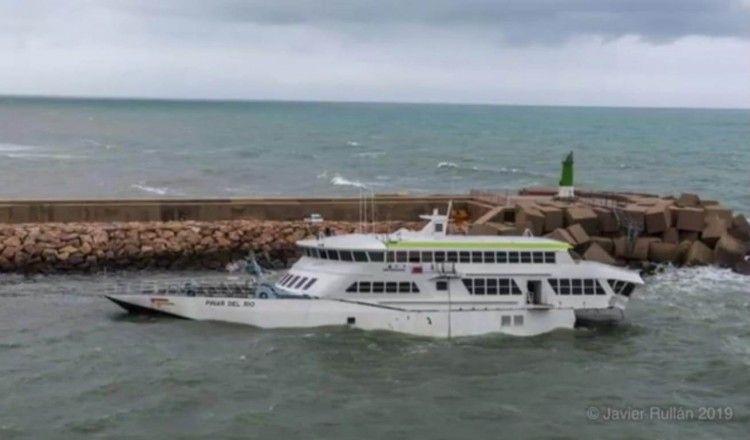 El reciente temporal ha causado daños importantes en el buque