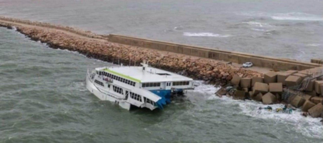 """El reciente temporal ha destruido el catamarán """"Pinar del Río"""""""