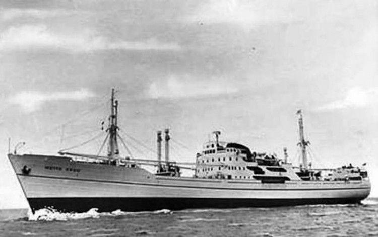 """El buque """"Guárico"""", en su primera etapa con el nombre de """"Mette Skou"""""""