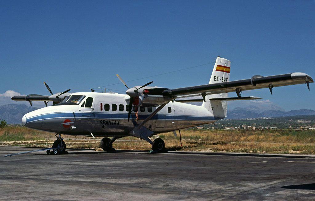 Con el avión Twin Otter, Spantax voló a Melilla