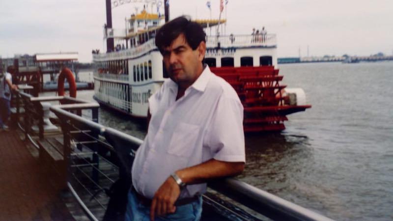 """El autor, en New Orleáns, en los días posteriores al incendio del buque """"CTE Macarena"""""""