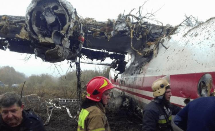 Estado en el que quedó el avión tras estrellarse