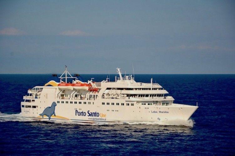 """Estampa marinera del ferry """"Lobo Marinho"""""""