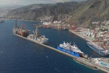Ubicación futura del dique flotante de Tenerife Shipyards