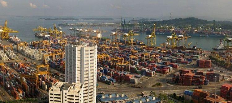 Panorámica del puerto de Singapur