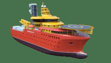 Este será el aspecto exterior de los buques CSOV para Østensjø Rederi