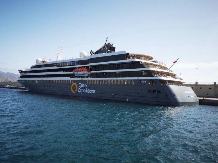 """El buque """"World Explorer"""", en su escala en el puerto de Santa Cruz de Tenerife"""