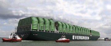 Aspecto de la futura mole de los buques de Evergreen