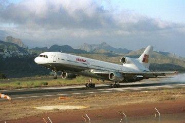 L-1011 TrStar EI-CNN al servicio de Iberia, aterrizando en Tenerife Norte