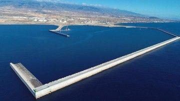 Panorámica del puerto de Granadilla, situado en el sur de Tenerife
