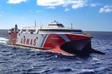 """El catamarán """"Volcán de Tirajana"""" cubre la línea El Hierro-Tenerife"""