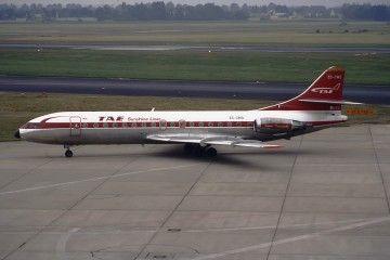 Avión Caravelle EC-CMS con la librea de TAE
