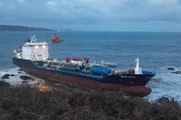 """Situación en la que se encuentra el buque """"Blue Star"""""""