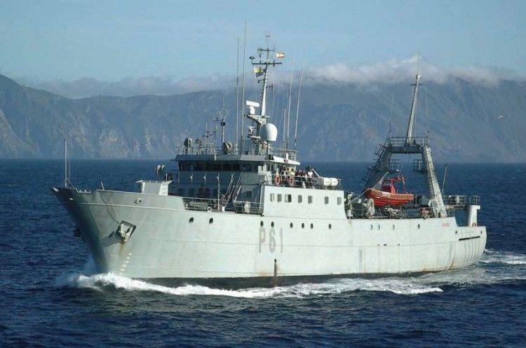 """El patrullero """"Chilreu"""", en su época de servicio activo en la Armada"""