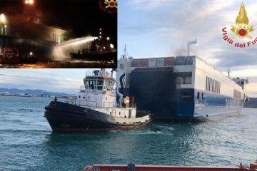 """imágenes del buque """"Eurocargo Trieste"""""""