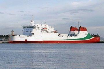 """El buque """"Al Andalus Express"""", en su primera escala en Palma de Mallorca"""