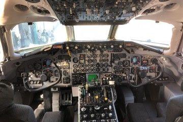 Estado en el que se encuentra el cockpit del ex DC-9 de Aviaco