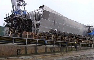 Estado de construcción en el que se encuentra el nuevo catamarán de Balearia