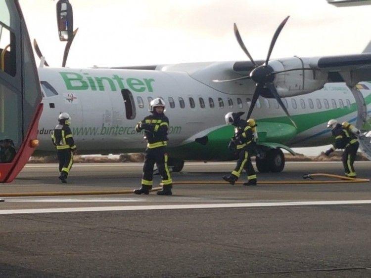 La presencia de los bomberos desató la alarma entre los pasajeros
